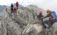 Mount Carstensz Pyramid- Tyrolean Traverse