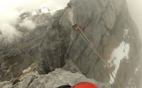 Mount Carstensz Pyramid - Tyrolean Traverse