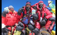 Sherpas on Mount Everest summit