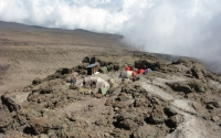 Mount Kilimanjaro high camp