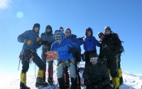 Mount Vinson team on summit