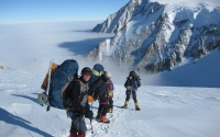 Mount Vinson above base camp