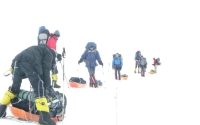 Mount Vinson white-out conditions